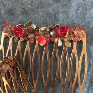 OOAK hair combs. Handmade and simply gorgeous!